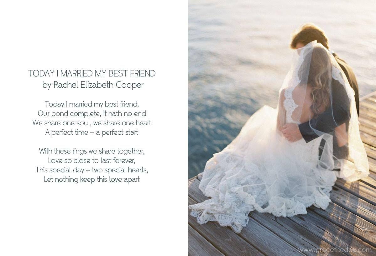 Today I Married My Best Friend Rachel Elizabeth Cooper Gracetheday