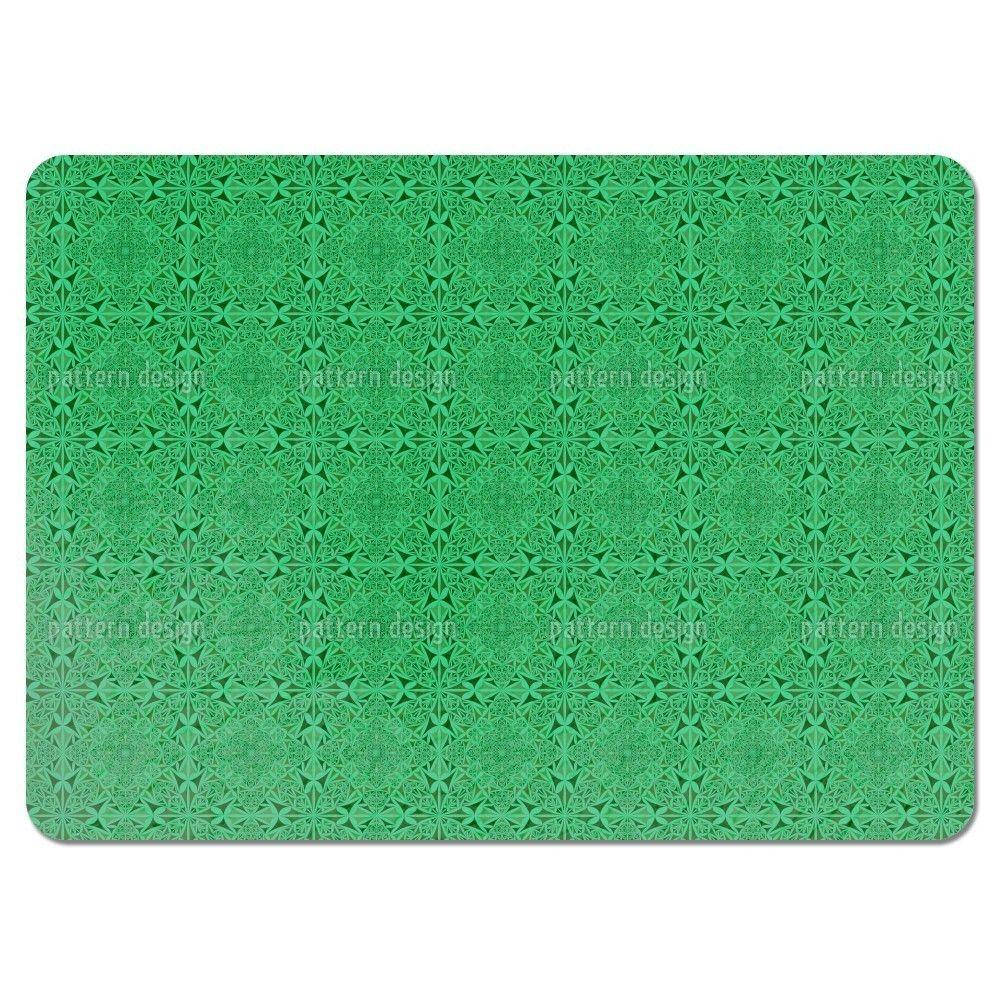 Uneekee Emerald Kaleidoscope Placemats