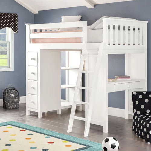 Ayres Twin Loft Bed with Drawers and Shelves (With images
