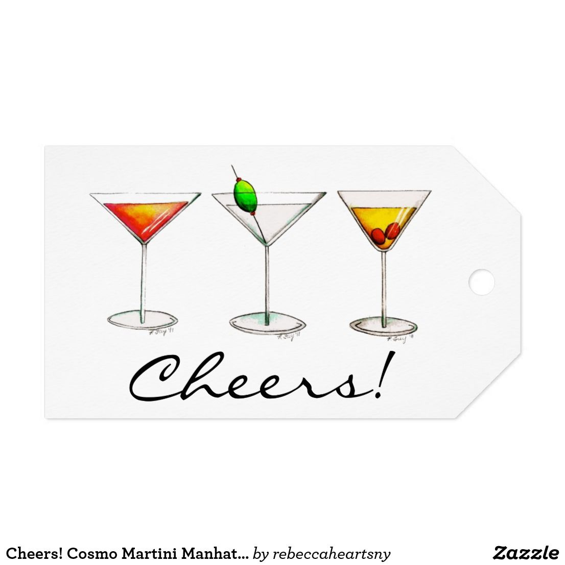 Cheers Cosmo Martini Manhattan Cocktail Glass Tag Zazzle Com Manhattan Cocktail Glass Cosmo Martini Card Drawing