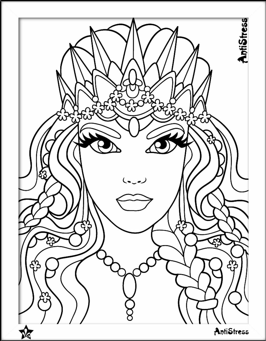 Beauty coloring page | Beautiful Women Coloring Pages for Adults ...