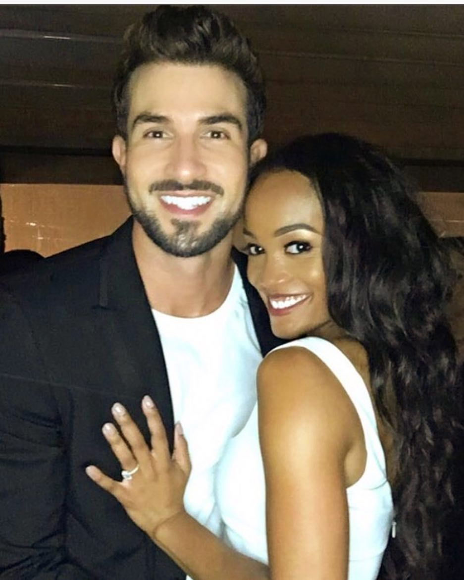 "TheYBF on Instagram: ""#Bachelorette #RachelLindsay and her fiancé #BryanAbassolo celebrated their engagement party in Rachel's hometown of Dallas over the…"""
