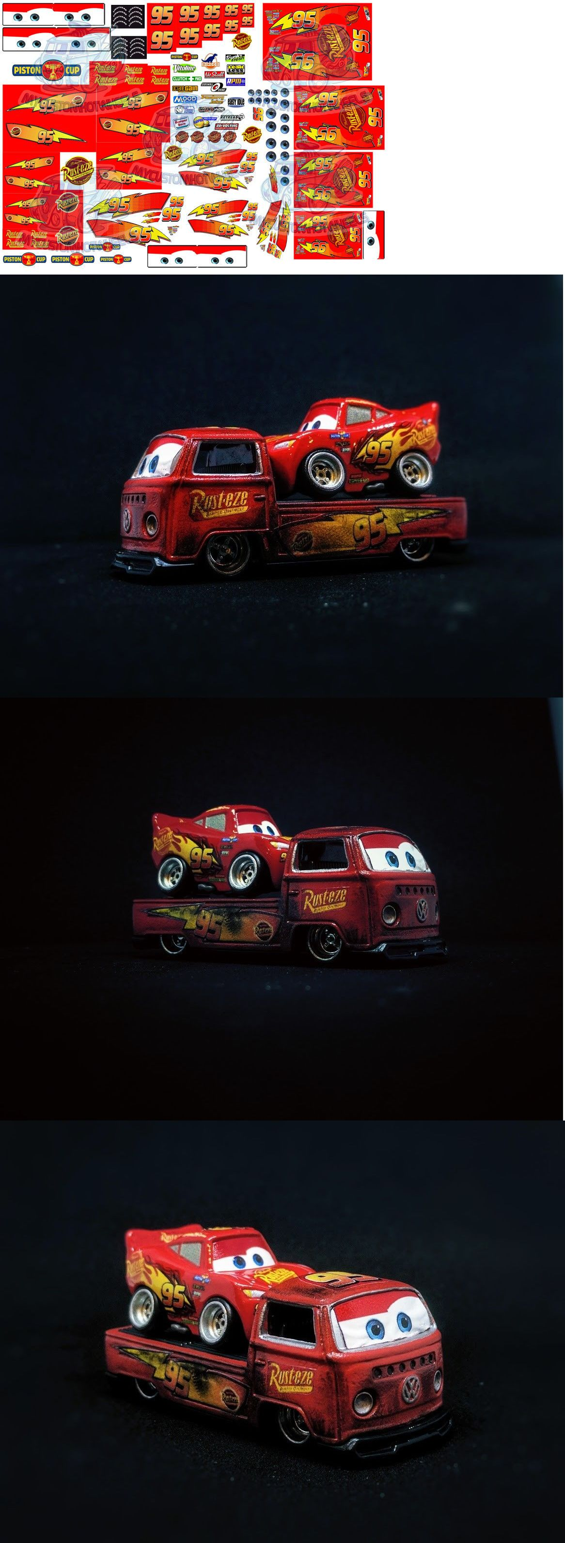 Lightning Mcqueen Decals Cars Movie Waterslide Decals In All Popular Scales Cars Movie Custom Car Decals Lightning Mcqueen [ 3181 x 1166 Pixel ]