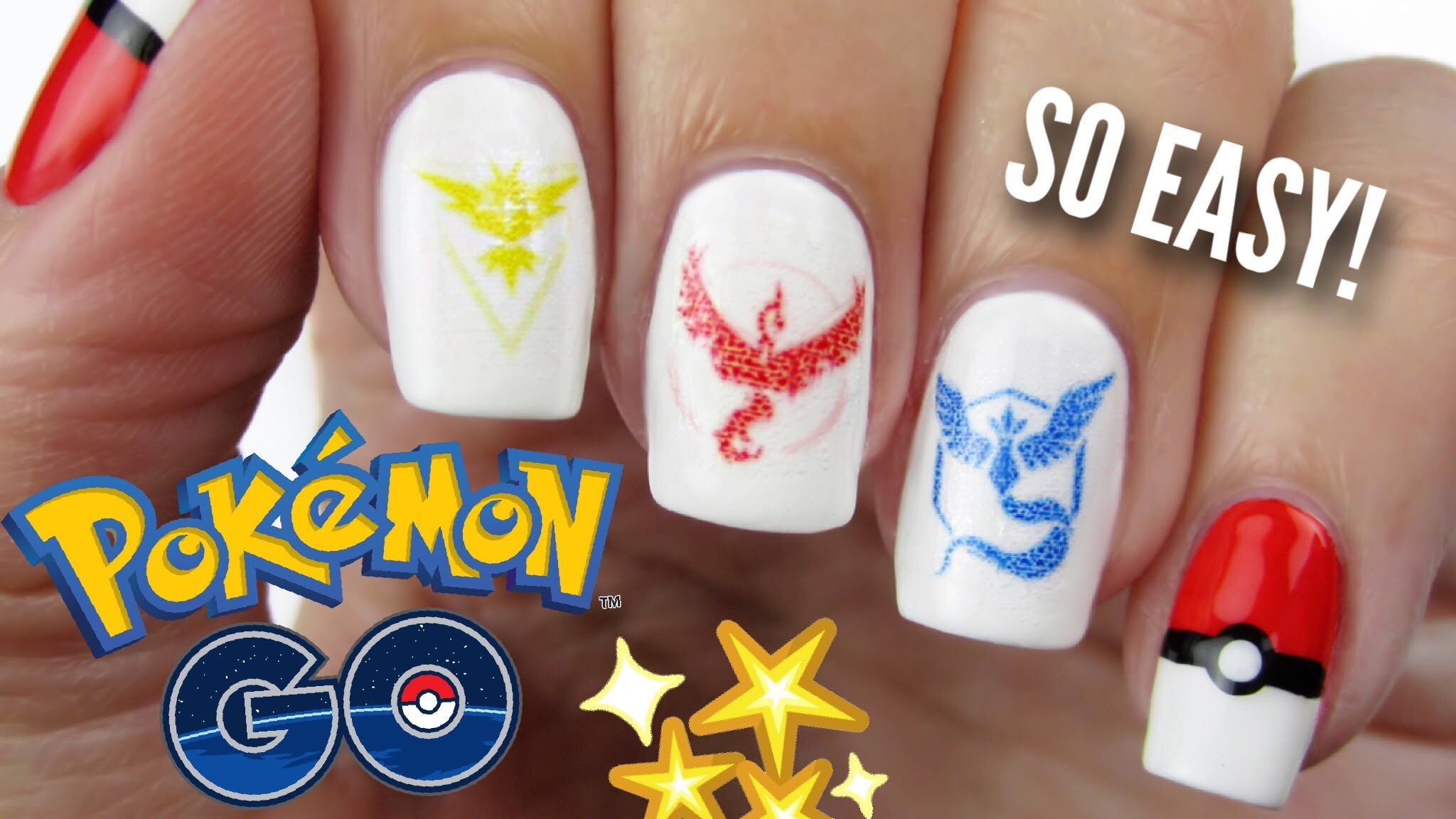 Pokemon Go Nails Team Instinct Valor Mystic Collab X Simply Nail