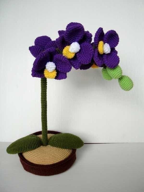 Crochet Pattern ORCHID Flower / Plant PDF por skymagenta en Etsy