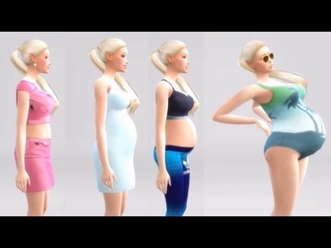 Sims 4 Barbie Pregnant With Twins Belly Progression Week By Week