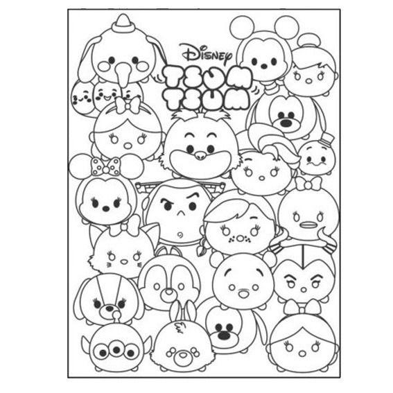 Tsum Tsum Para Colorear Buscar Con Google Tsum Tsum Para Colorear Dibujos Kawaii Dibujos Para Colorear Disney