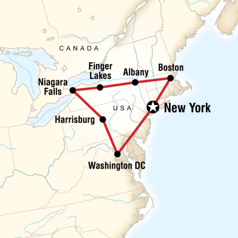 Route Map For Tour East Coast USA NUEC Decent Itinerary To Do - Us east coast road trip map