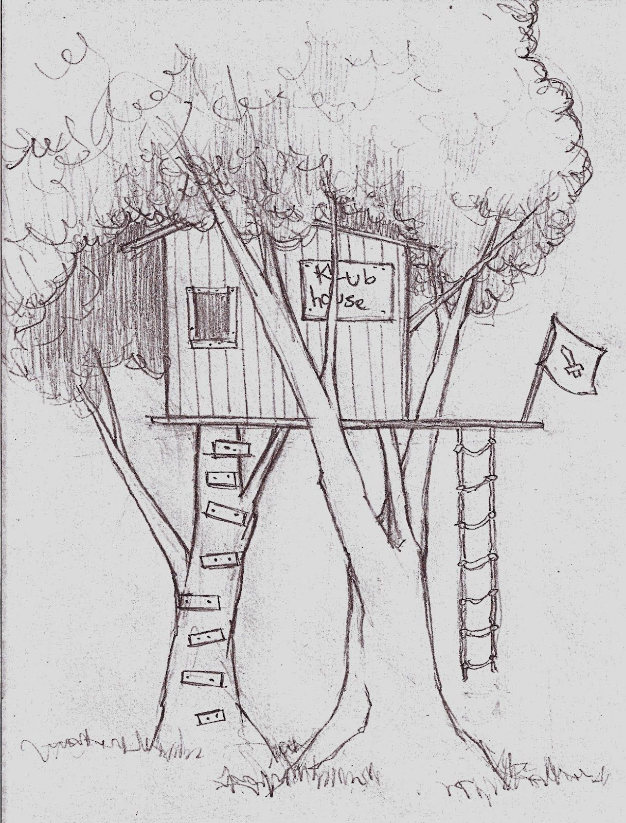 Tree house drawings for kids google search