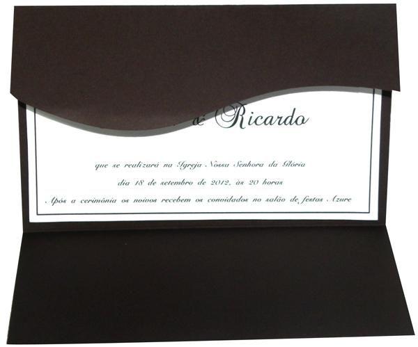 Convite envelope onda, encontrado na web