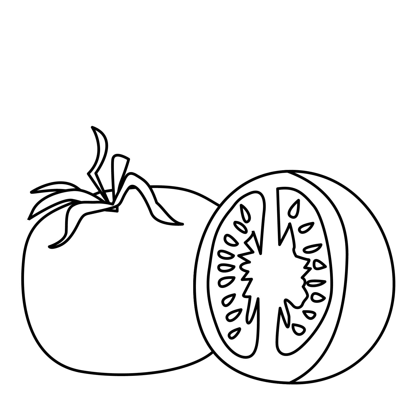 Tomato Coloring Pages Best Coloring Pages For Kids Coloring Pages For Kids Tomato Coloring Page Coloring Pages