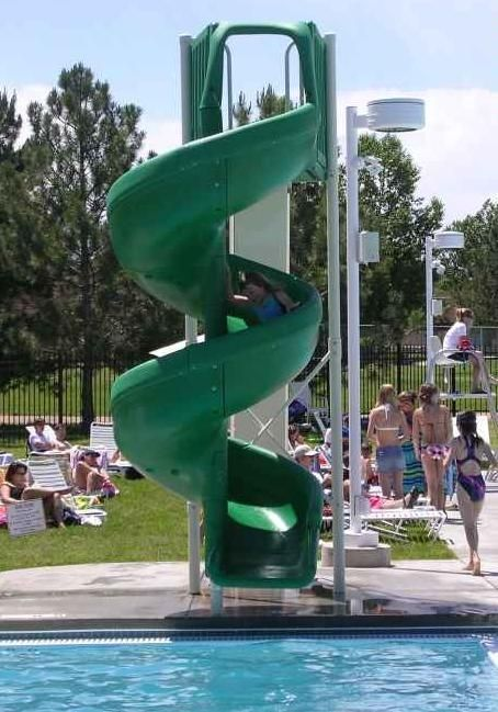 Summit usa swimming pool slides for in ground residential - How to build a swimming pool slide ...