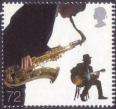 Sounds of Britain 72p Stamp (2006) Blues and Jazz