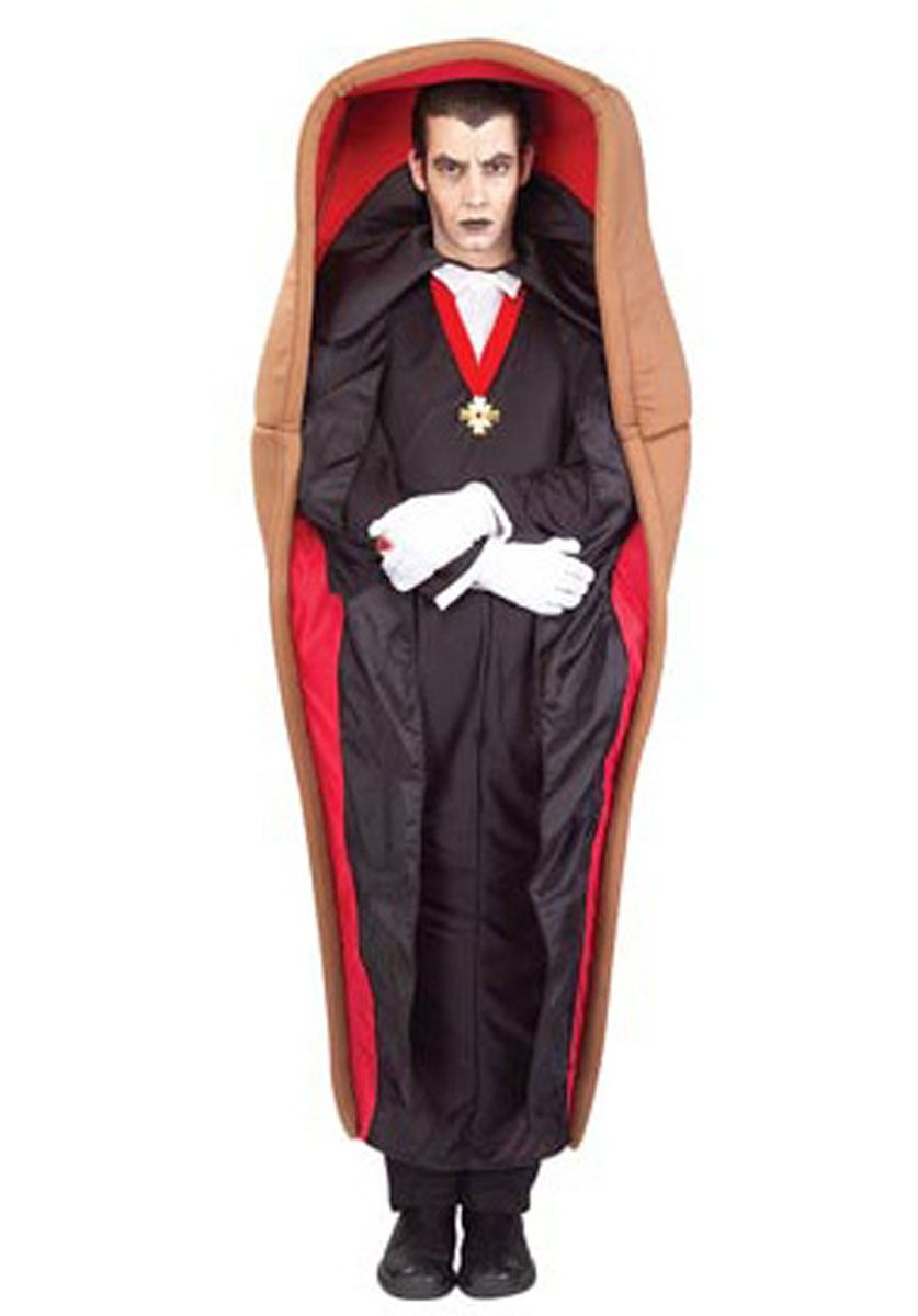 Adult Dracula in the Coffin Costume - Funny Costumes at Escapade ...
