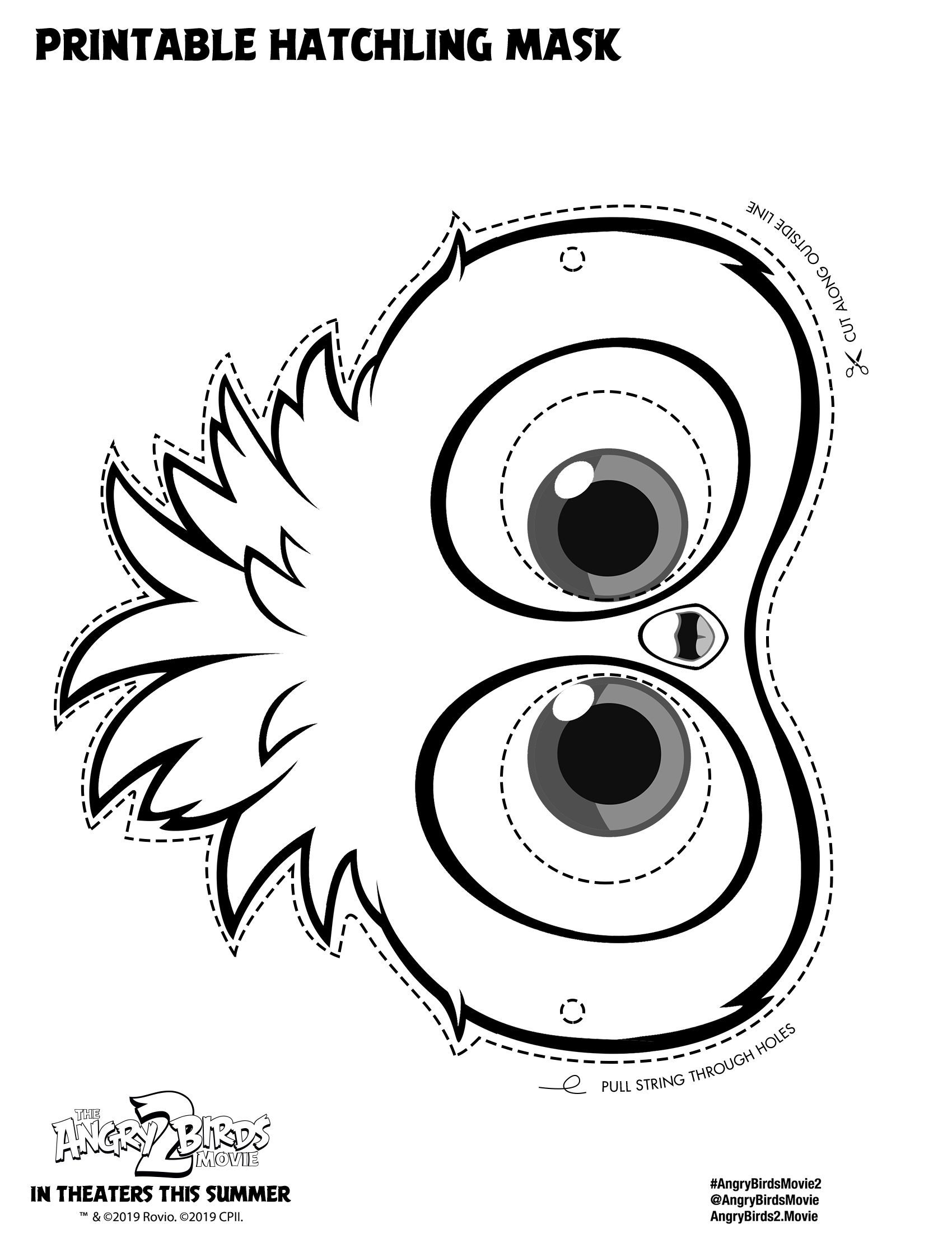 Angry Birds Movie Hatchling Mask Coloring Pages Cartoon Coloring Pages Angry Birds In 2021 Bird Coloring Pages Cartoon Coloring Pages Dinosaur Coloring Pages
