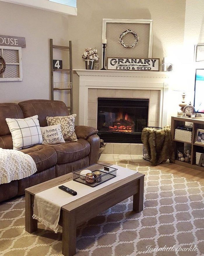 27 Beautiful Living Room Furniture Arrangements Brown Couch