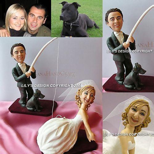 Custom Personalized Fishing Theme Cake Topper Figurines
