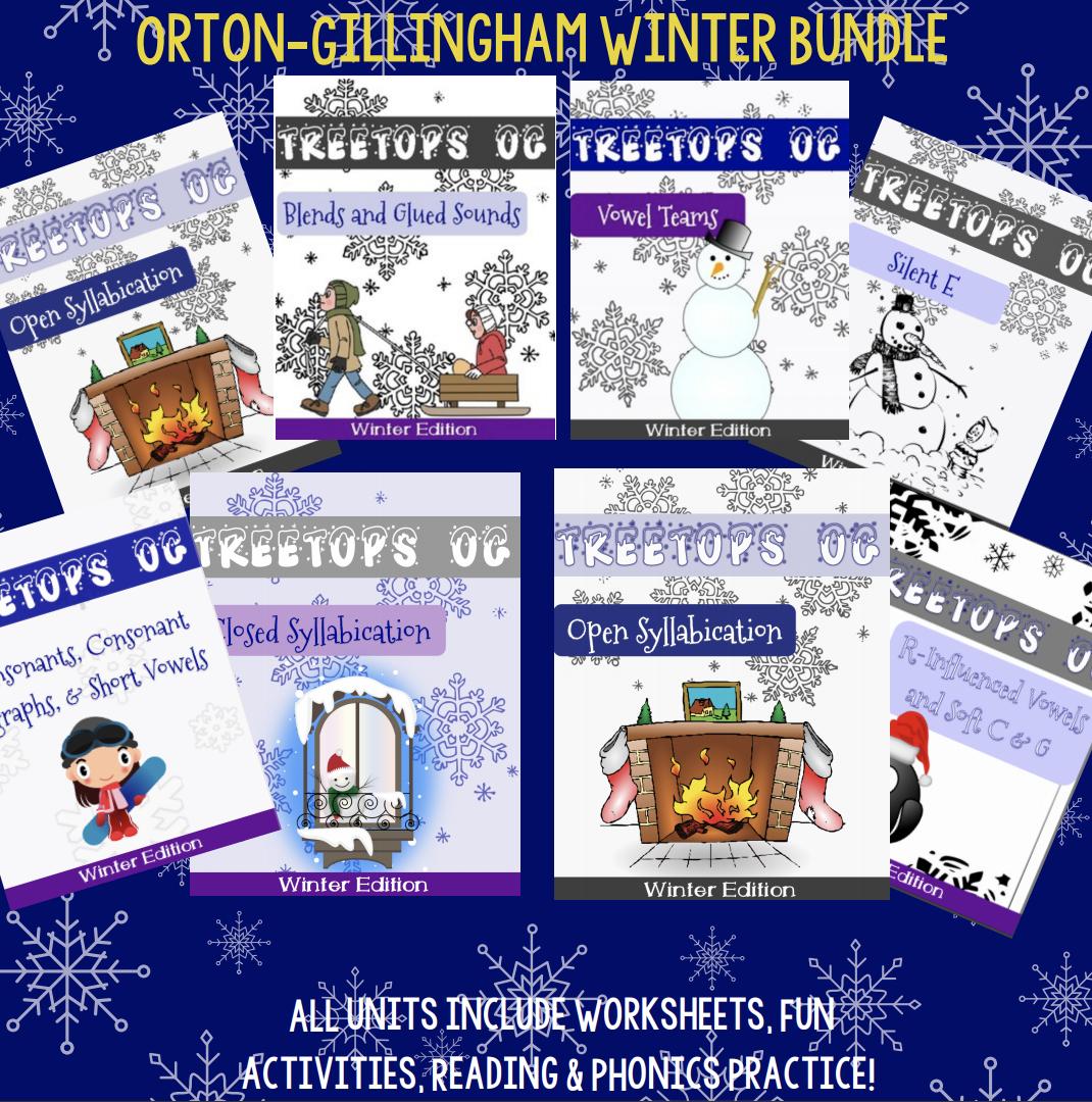 Orton Gillingham Winter Unit The Complete Bundle