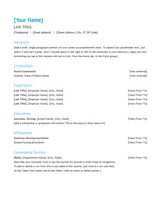 Resume Chronological  Victoria    Resume Format
