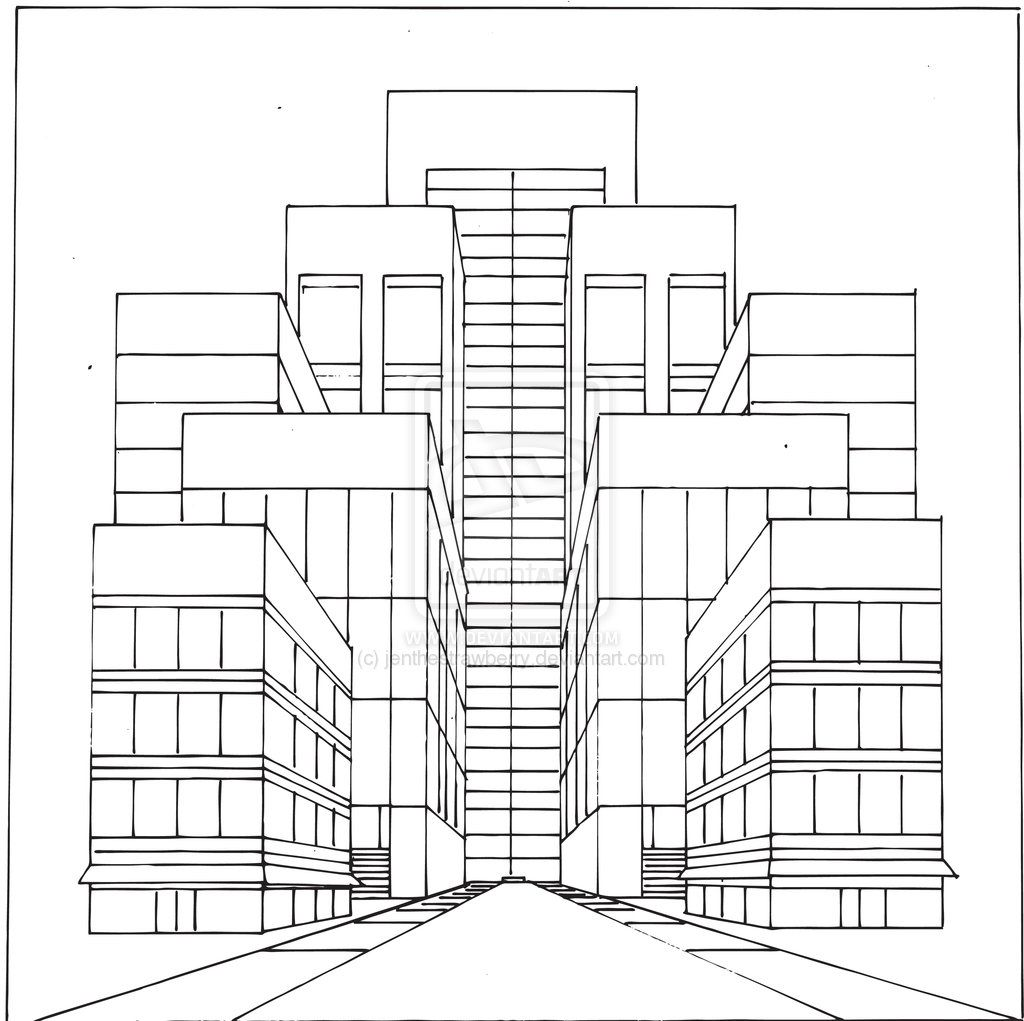 Two Point Perspective Printable Worksheet