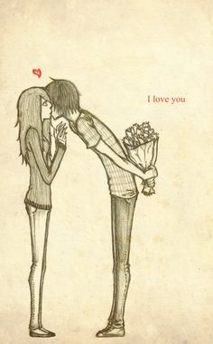 I love you  Dibujos de parejas  Pinterest