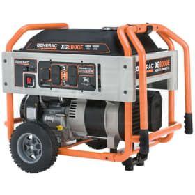 Generac 5747 Xg8000e 8000 Watt Electric Start Portable Generator Portable Power Generator Portable Generator Best Portable Generator