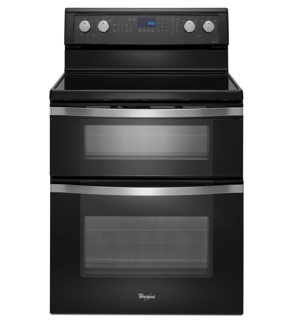 Whirlpool® 6.7 Total cu. ft. Double Oven Electric Range with True ...