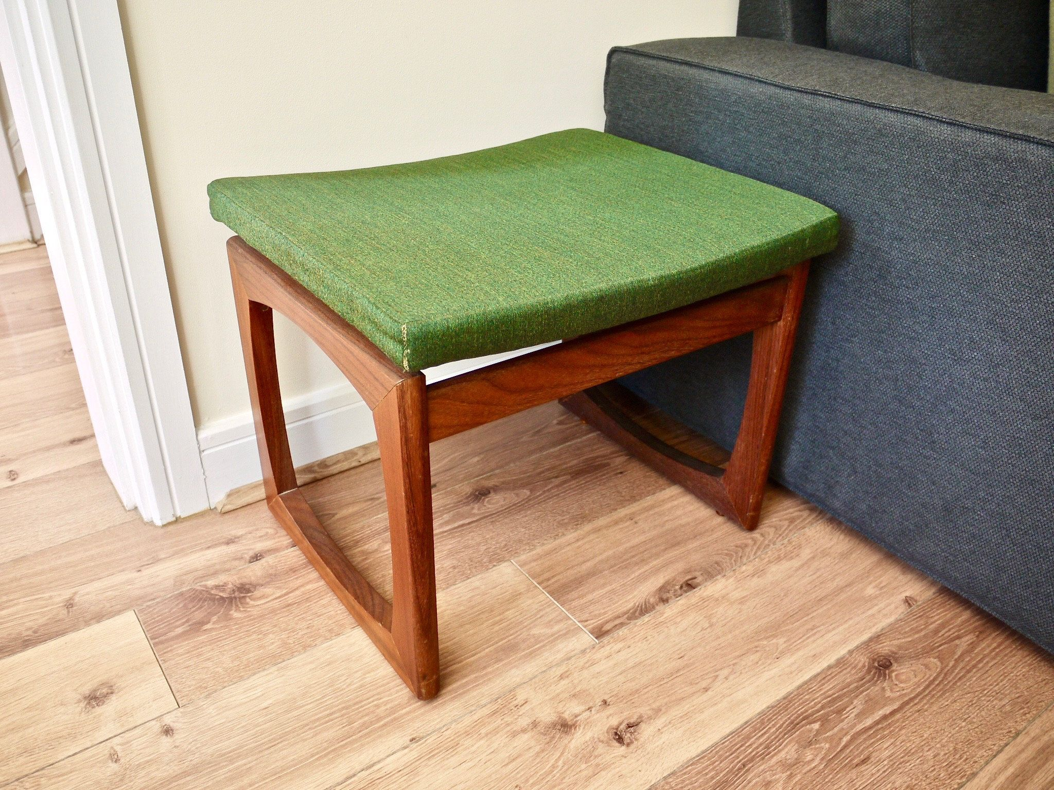 G Plan Footstool G Plan Teak Quadrille Mid Century Green