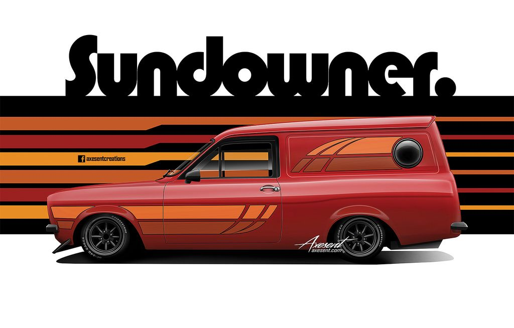 "Australian Production Escort Mk2 Sundowner -  www.axesent.com Digital Illustration - Layer build video - youtube ""kanseigazou""  Prints available - axesent.com personal prints also available on request."