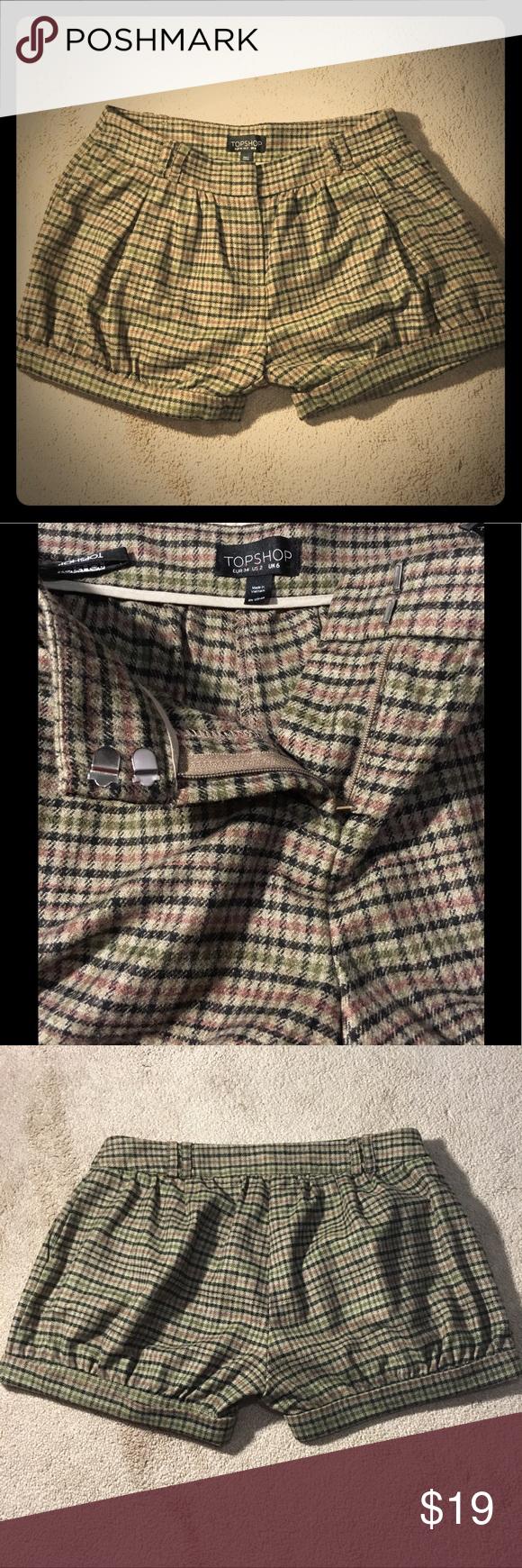 Wool Shorts London Fashion Plaid UK Style Plaid