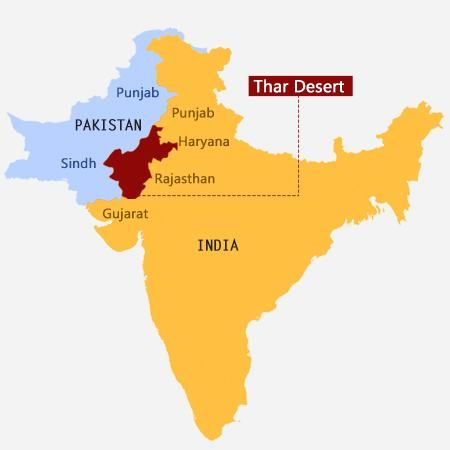 thar desert on map Thar Desert Desert Map Indian Desert Desert Facts thar desert on map