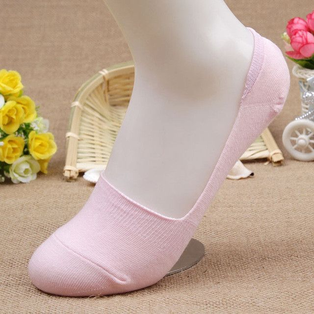 d6910ce70716a Free Shipping 7pairs/lot Candy Colors Bamboo fiber Women's ankle Socks  super invisible sock anti