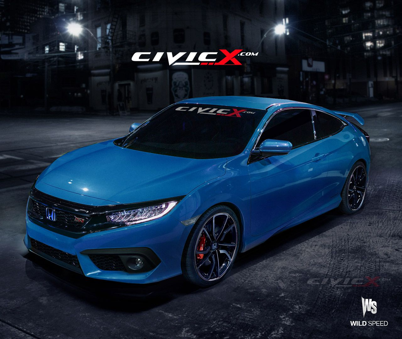 Our 2016 Honda Civic Si Coupe preview render images