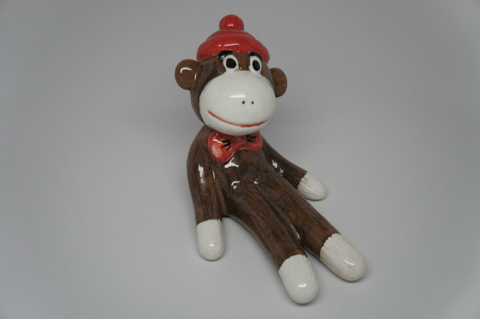 Sock Monkey Handpainted Ceramic Porcelain Pottery   eBay $7.50 ...