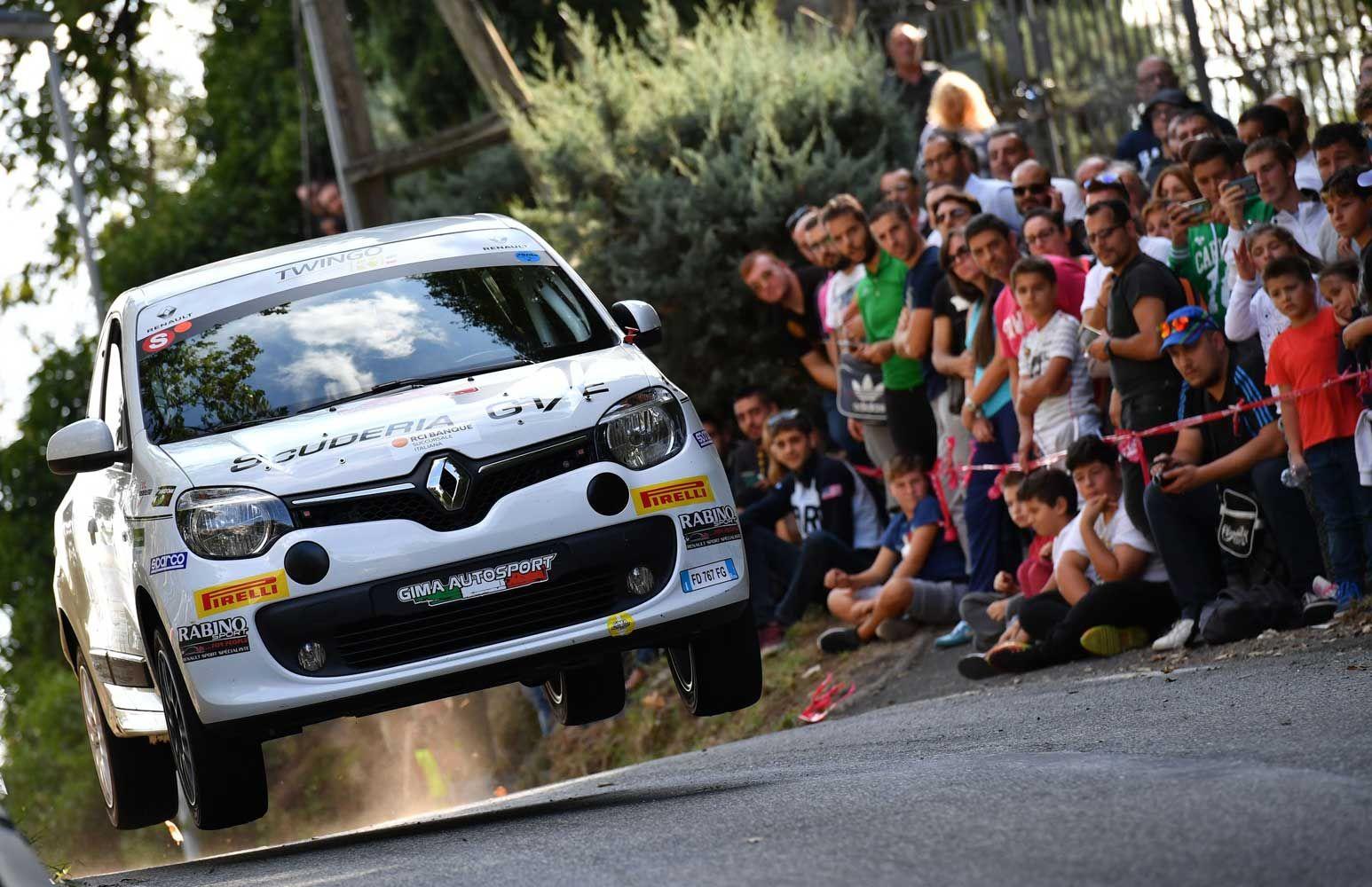 Renault Twingo R1 At Rally Roma Capitale Italy 2016 Evo Corse