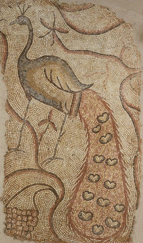 Left panel from Pair of Peacocks, A.D. 400-600, possibly Emesa, Syria, stone. The J. Paul Getty Museum, Gift of William Wahler. Photo: The J. Paul Getty Museum, Villa Collection, Malibu, California.