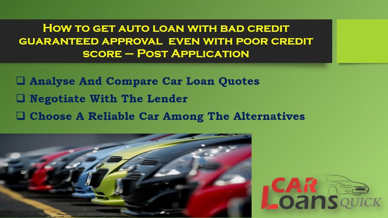 Reliable Auto Finance >> Tips To Choose Guaranteed Auto Financing For Bad Credit With