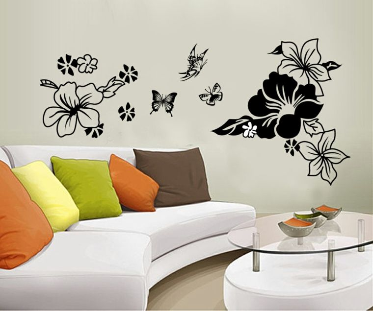 decoracin para paredes con flores