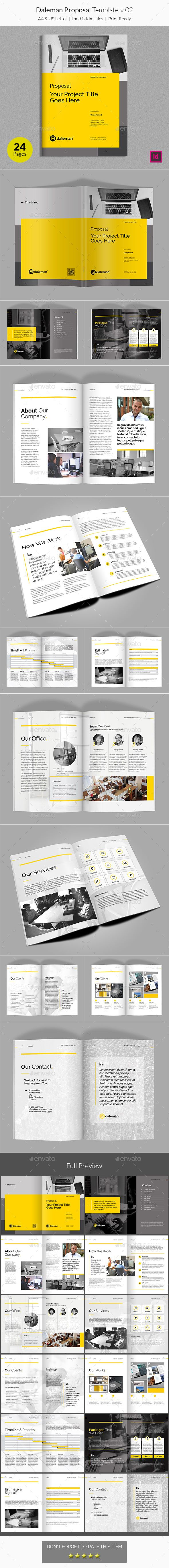 Daleman Proposal Template V02 Proposal Templates Template And