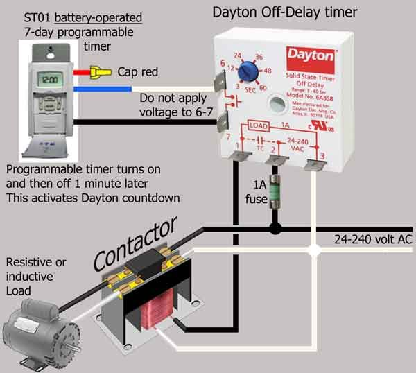How To Wire Dayton Off Delay Timer Timer Circuit Diagram Electrical Panel
