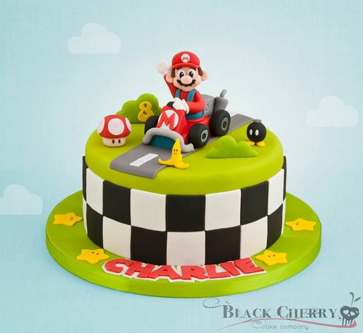 mario kart cake mario cakes and stuff pinterest motivtorten und torten. Black Bedroom Furniture Sets. Home Design Ideas