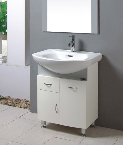 Pvc Bathroom Furniture Wash Basin Cabinet Waterproof Vanity T6401