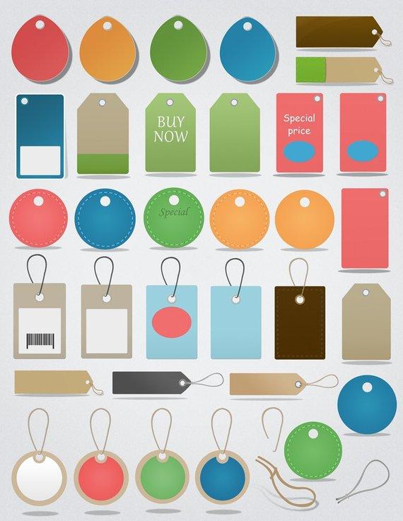 Price tag hang. Clipart set tags clip