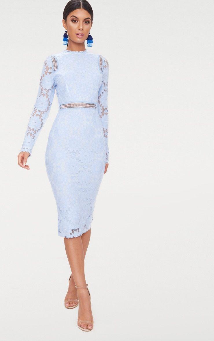 Dusty Blue Long Sleeve Lace Bodycon Dress Lace Bodycon Dress Long Sleeve Lace Dress Long Long Sleeve Bodycon Dress [ 1180 x 740 Pixel ]
