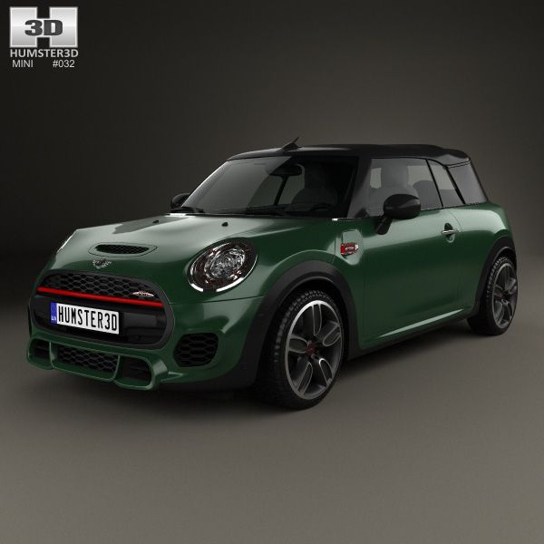Rendering 2014 Mini Cooper Convertible: 3D Model Of Mini Cooper John Cooper Works Convertible 2016