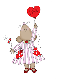 Free Dearie Dolls Digi Stamps: Valentine Mouse Love Balloon