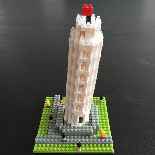 나노블럭 피사의 사탑 #la#losangeles#nanoblock#미국#엘에이#나노블럭#피사의사탑#보고싶다