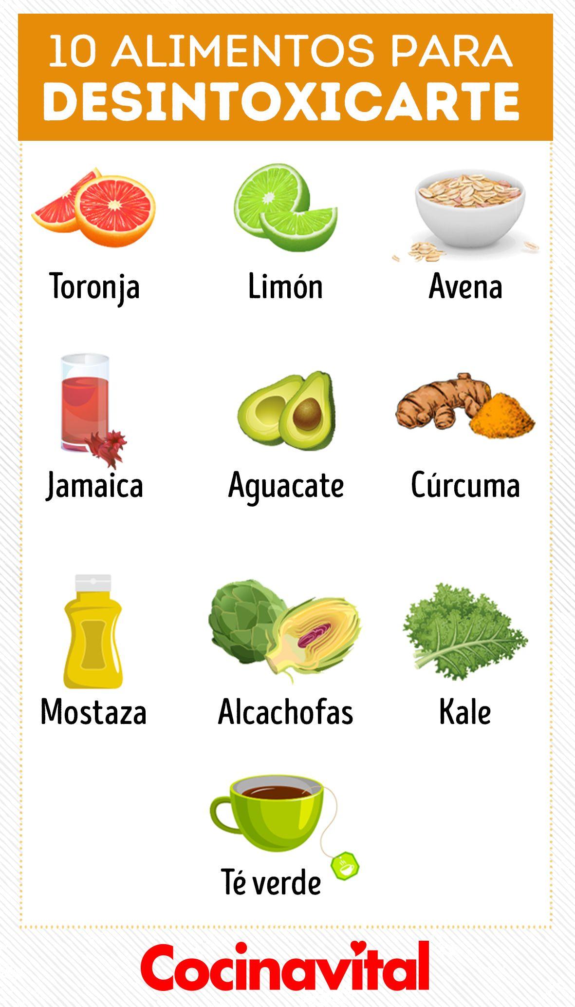 25 Alimentos Para Desintoxicar Tu Organismo Y Bajar De Peso Alimentacion Saludable Beneficios De Alimentos Comida Saludable Ensaladas