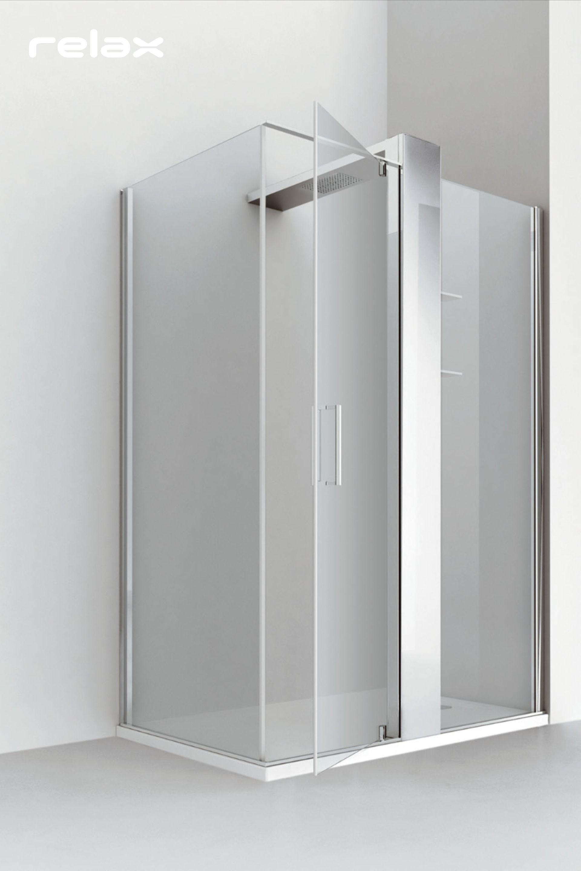 Box doccia ad angolo con anta battente e parete fissa