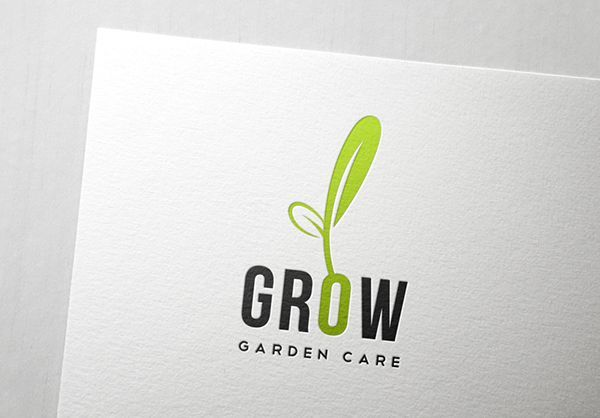 This Is A Versatile Logo Can Be Used For Garden Care Farms And Also For Green Companies In This Logo I Made The O Look Like A Seed In 2020 Farm